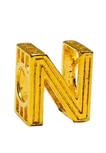 LITZ gold LITZ 916 (22K) Gold Charm Alphabet N 字母N GP0183 (1.61g) 3A542AC5987C31GS_1