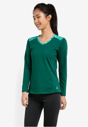 AVIVA green Long Sleeve Shirt AV679AA0S9G9MY_1