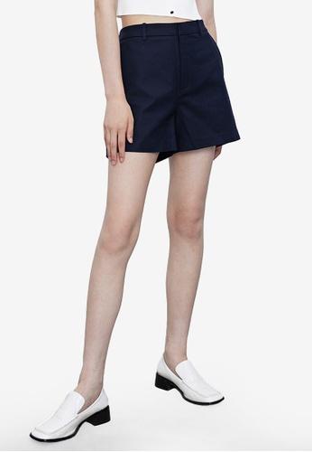 Urban Revivo blue Trendy Casual Shorts 1D598AAC68CC2FGS_1