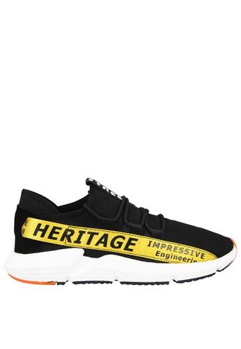 Tomaz black Tomaz C385 Casual Sneakers (Black Yellow) E95AFSHB7244B7GS_1