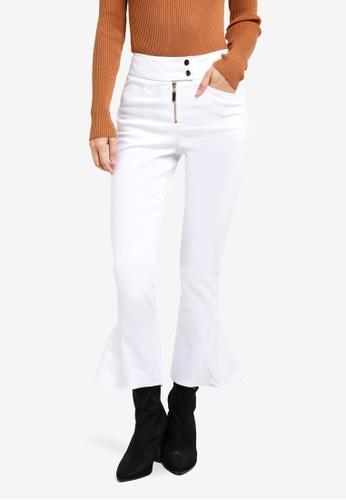 TOPSHOP white Heavy Twill Kflre Jeans TO099AA0KCHPPH_1