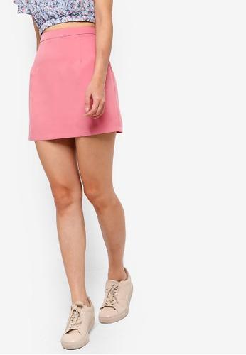 Something Borrowed pink Pop Mini Skirt 6B0DAAABF2A5F7GS_1