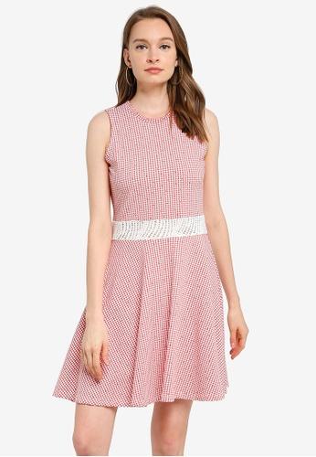 UniqTee pink Open Waist Dress with Net Lace 8BCCEAAE0FCE88GS_1