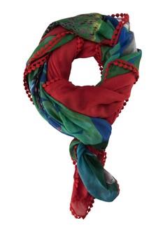 Foulard Mixto Papua Carmin Woven Foulard Scarf