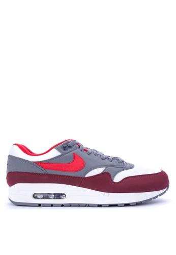 Nike white and red Men's Nike Air Max 1 Shoes NI126SH0STTZMY_1