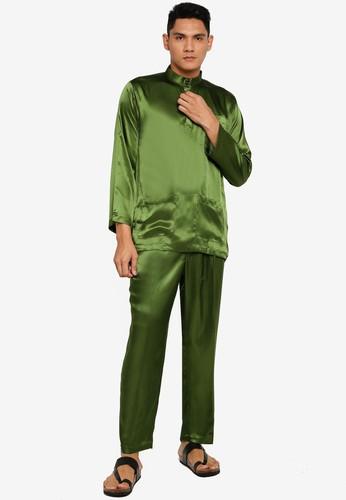 Gene Martino green Tradisional Baju Melayu 02F8EAAB2B84B2GS_1