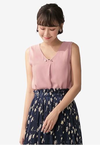 Tokichoi pink Chiffon Sleeveless Blouse 6EF80AA725A787GS_1