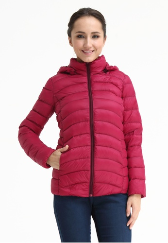 Bove by Spring Maternity red Belle Hooded Down Jacket 4F0D5AAEE6849AGS_1