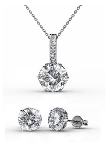 Her Jewellery silver Swarovski® Crystals - Kristine Set (18K White Gold Plated) Her Jewellery HE581AC0RDGNMY_1