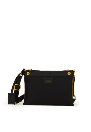 Gnome and Bow black and brown and beige Milton Mini Crossbody Clutch (Reversible) 57C0BAC0DBFB3CGS_1
