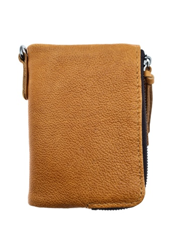 LUXORA brown The Ninja Co. Top Grain Leather Billfold Coin Wallet Card Holder Gifts Purse 6D4FCACBB99281GS_1