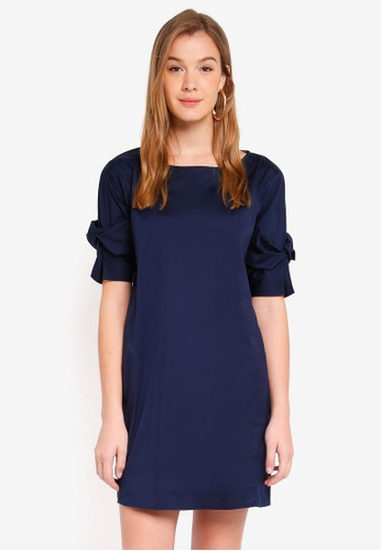 ESPRIT navy Light Woven Mini Dress 57A7CAAE4DBF1BGS_1