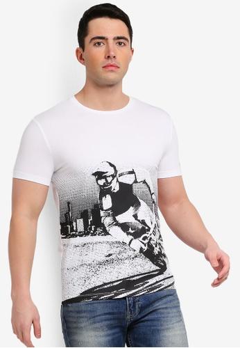 737d7bb969a4 Calvin Klein white Moto Racing Slim Short Sleeve Tee - Calvin Klein Jeans  756E4AAE7E1E5DGS_1
