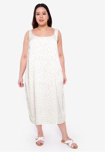Cotton On white Curve Woven Maggie Slip Midi Dress E076CAA9BC3FE0GS_1