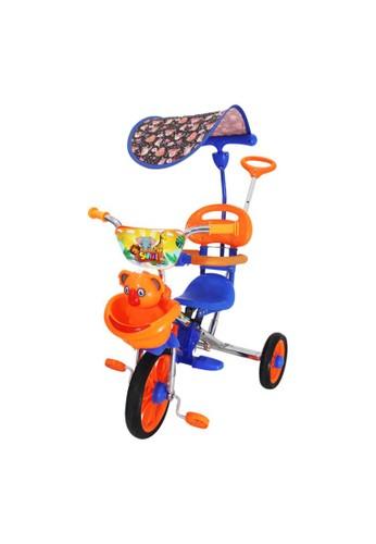 Toylogy multi Mainan Anak Sepeda Roda Tiga 3 Sandaran Dorongan Kanopi BMX PMB 722 - ORANGE 26CBDTH1CC0F67GS_1