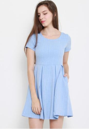 Leline Style blue Jane Skater Dress LE802AA57TRESG_1