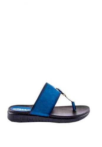 Otto blue Metal Circle Slide Sandals 61593SH2B4F5A6GS_1
