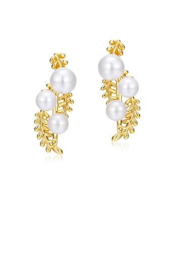 SUNSET 金色 Premium S925 Sliver Pearl Earring 23075ACCBEA366GS_1
