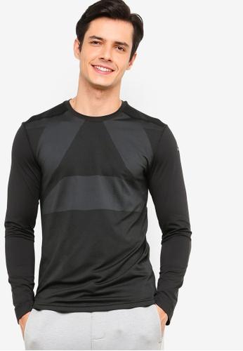 Reebok 黑色 訓練健身長袖T恤 62B97AA111207FGS_1