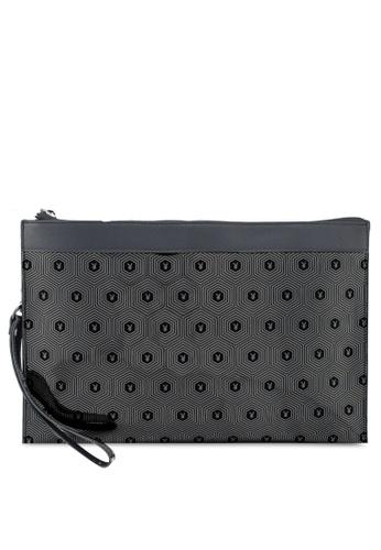 1e719105de Playboy black Faux Leather Clutch Bag D1632AC4EC55D8GS 1