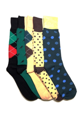 M-Wanted black and brown and yellow and green M. My Daily Socks-tual Assorted Pattern Socks 5 Pack 26EDAAAA5BAB8EGS_1