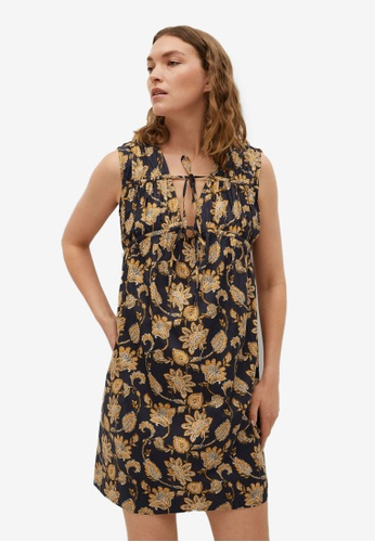 Mango black 100% Cotton Mini Dress 56BF7AA496727FGS_1