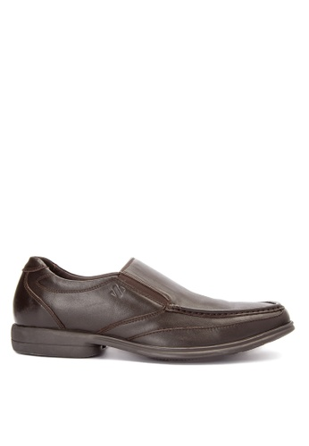 Sledgers brown Jason Classic Slip On Office Shoes SL142SH0JWJYPH_1