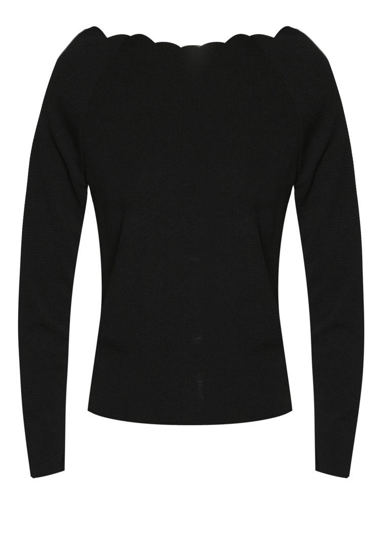Long Three N' PROPER PINK Thalassa Black Swimsuit Hem Scallop Piece Sleeve CRfwC0nq