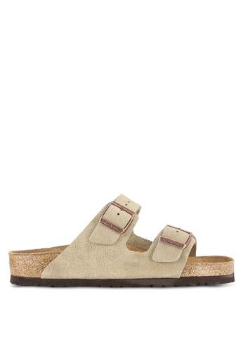 Birkenstock brown Arizona Suede Sandals BI090SH0RTIHMY_1