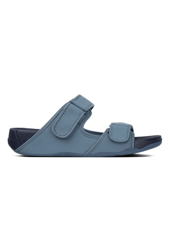 Fitflop blue Fitflop Gogh Moc Slide In Neoprene (Sea Blue) ED2CCSHEDE451AGS_1