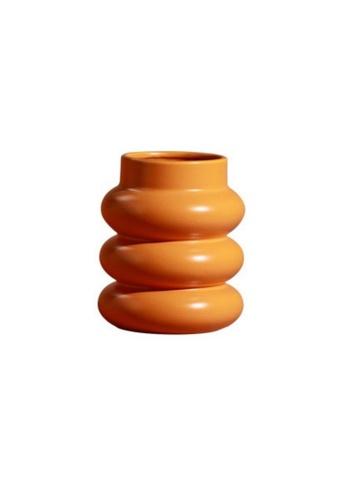 DILAS HOME Mid-century Stepped Vase (Orange) 99D02HLB6DBDEEGS_1