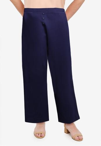 Gene Martino blue PLUS SIZE Muslimah Straight Cut Pants 7A78CAA39A51B8GS_1