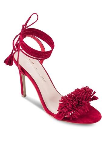 絨esprit 澳門球繫帶高跟鞋, 韓系時尚, 梳妝