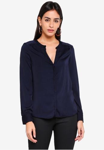 Vero Moda blue Marella Long Sleeve Top E01D8AA75EE28EGS_1