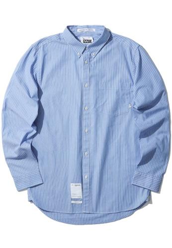 izzue blue Stripe shirt C18A0AA71EBD05GS_1