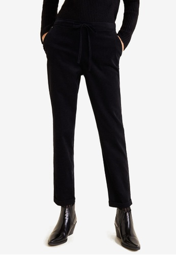 Mango black Cotton Corduroy Trousers 563BAAAF61B4C1GS_1
