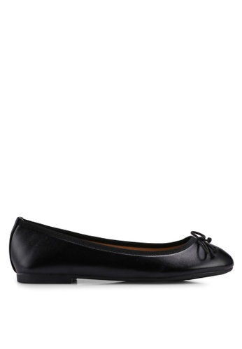 Carlton London black Round Toe Ballerinas B49A9SHD66B95CGS_1