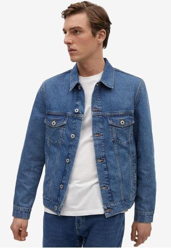 MANGO Man blue Medium Wash Denim Jacket 4ED9BAA0606182GS_1