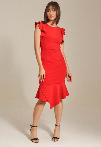 Dressing Paula red Ruffled Roma Dress BDB99AACCA8F6FGS_1