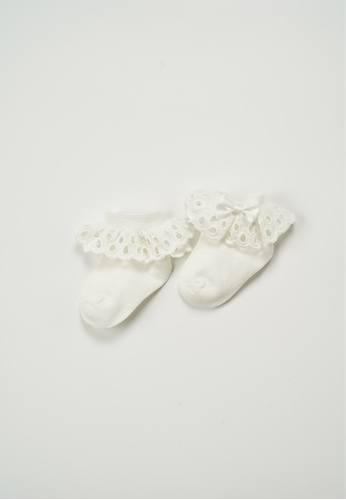 Treehouse beige Lace Ankle Socks 14E3BKA4034FEFGS_1
