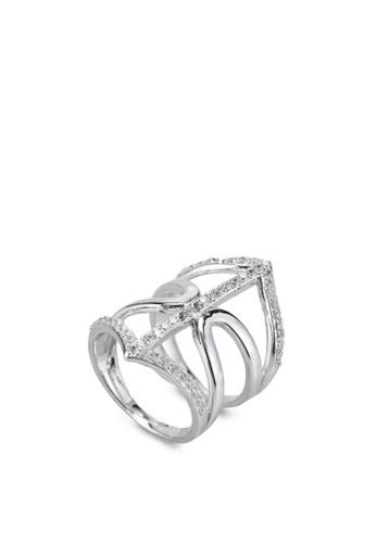 Wanderlust + Co silver Geo Armour Crystal Silver Ring WA415AC64QITMY_1