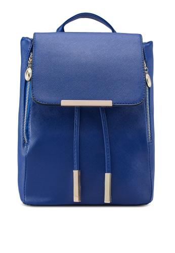 Bagstationz 藍色 Bagstationz Saffiano Backpack BA607AC01KIOMY_1