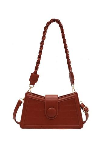Lara brown Women's Magnetic Buckle Cross-body Bag Underarm Bag (2 Straps Included) - Khaki 20738ACBFD6AC4GS_1