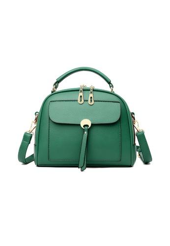 Lara green Women's Leather Zipper Cross-body Bag - Green 7990CACA708ADDGS_1