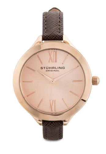 Stuesprit台灣hrling Original 975.04 Vogue 暗紋皮革細帶女錶, 錶類, 飾品配件