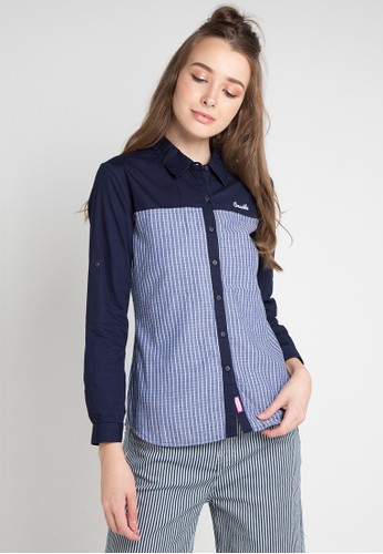 Cressida Ladies multi and navy Daisy Simple Shirt D6B5DAA729B78BGS_1