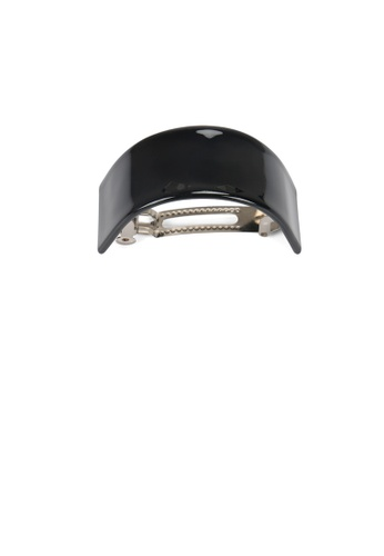 Glamorousky black Simple and Fashion Black Geometric Curved Hair Slide EE621AC7EFC411GS_1