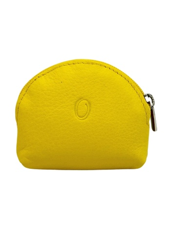 Oxhide yellow Oxhide Leather Coin Purse yellow Small 8A7B7ACCB55346GS_1