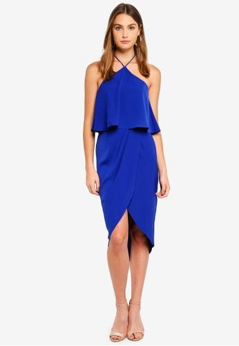 Preen & Proper blue Halter Neck Midi Dress 2053DAA7A69543GS_1