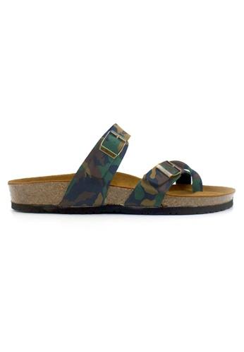 SoleSimple 多色 Dublin - 迷彩 百搭/搭帶 全皮軟木涼鞋 32D67SHBD290BEGS_1